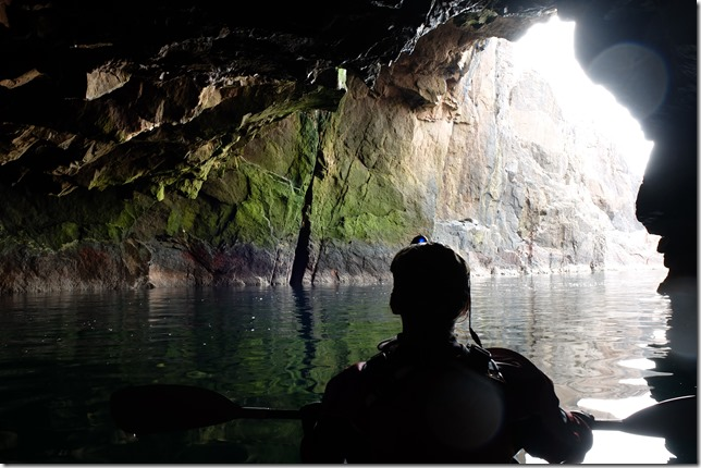 Kayaking Shetland, epic adventure caves